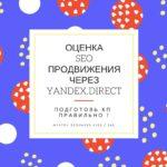 #105 Оценка Seo продвижения через Яндекс.Директ